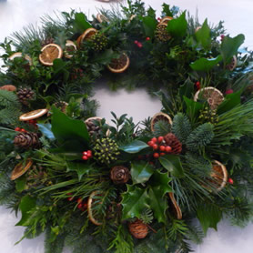 Beautiful hand crafted, scented door wreath.