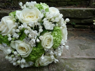 Sophisticated hand tied wedding bouquet.