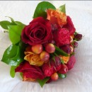 Autumnal hand tied bridal bouquet