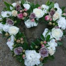 Heart shaped flower wreaths