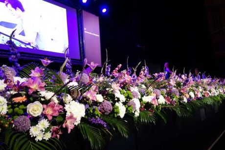 Stage flowers at Brighton Dome and Corn Exchange 2014.
