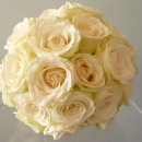 Classic compact hand tied wedding bouquet