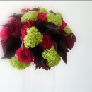 Wedding bouquet of black calla lilies
