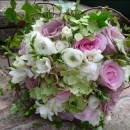 Interesting and textured wedding bouquet