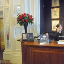 Grand hotel's reception desk