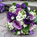Wedding bouquet of 'Blue Curiosa' roses