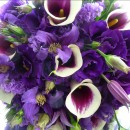Purple wedding bouquet.