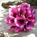 Beautiful hot pink calla lily bridal bouquet