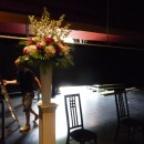 Summer flowers set on the stage at Brighton Dome
