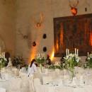 Wrought iron table candelabra