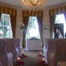 Romantic rose petal aisle at Shelley's Hotel in Lewes