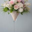 Giant martini vase of summer flowers