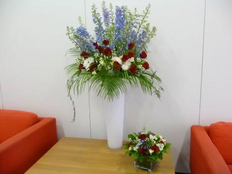 Large vase arrangement- corporate event summer 2012