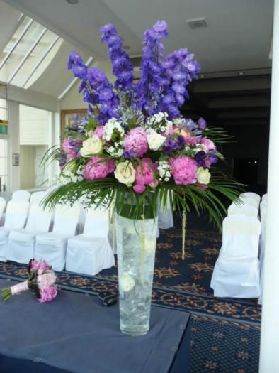 2 Metre tall vase of summer flowers