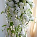 Pure and classic shower bouquet.