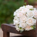 Hand tied bridal bouquet.