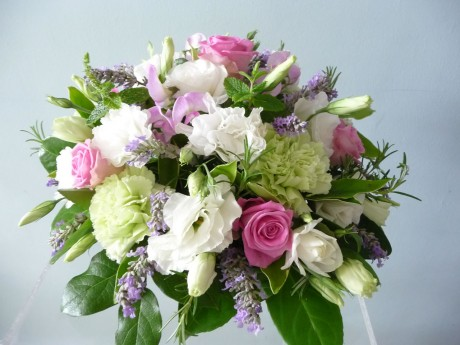 Posy of scented summer flowers