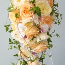 Shower bouquet of David Austin roses
