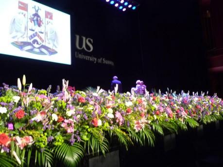 Flowers for University of Sussex award ceremonies