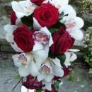 Teardrop bouquet of 'Grand Prix' roses