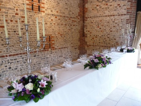 Event flowers at Upwalthams Barn 2011
