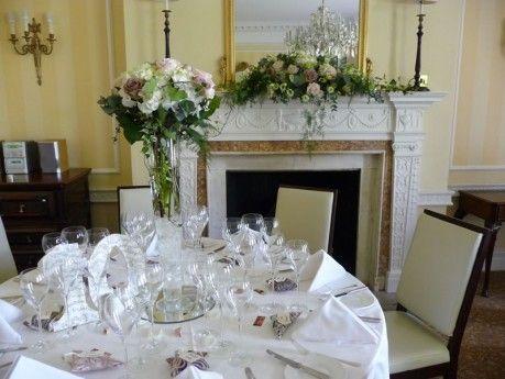 Vintage wedding flowers - The Shelleys Hotel, Lewes