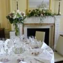Stunning giant martini vases at Wakehurt Place, Sussex