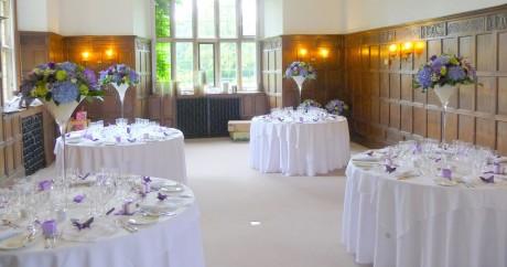 Giant martini vases at Wakehurst Place