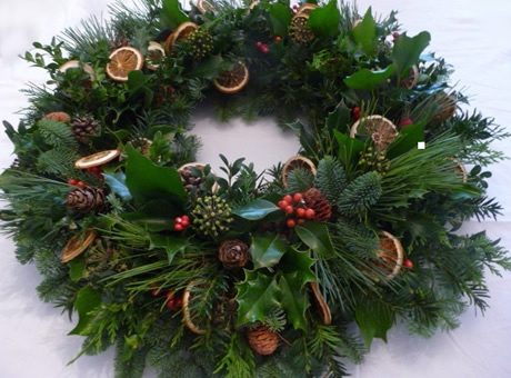 Christmas Wreath by In Bloom Brighton.