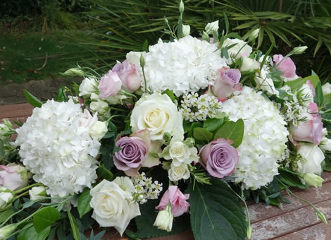 Funeral flowers.