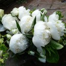 White peony wedding bouquet.