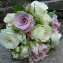 Wedding bouquet of vintage style roses