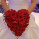 Romantic heart shaped bridal bouquet