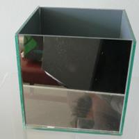 Mirrored cube vase - 15cm