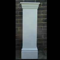 3 foot tall white plinth