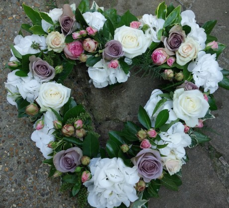 Heart shaped flower wreaths