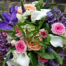Vibrant hand tied bridal bouquet