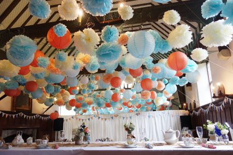 Pompoms and lanterns
