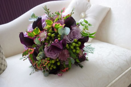Hand tied bridal bouquet