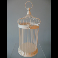 Large bird cage - 48cm tall x 20cm dia