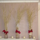 Gold birch in vases