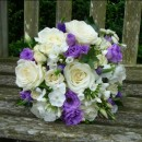 Hand tied wedding bouquet