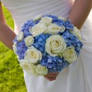 Classic domed hand tied bridal bouquet