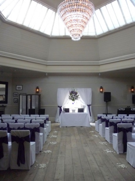 Ceremony set-up at the Hotel Du Vin Brighton