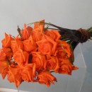 Modern sheaf of orange 'Naranga' roses (ref. 18)