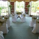 Ceremony set-up at Newick Park Hotel