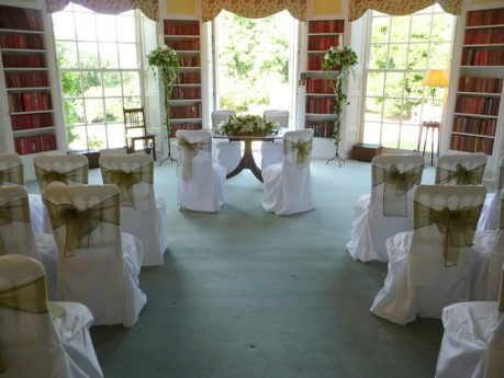 Ceremony set-up at Newick Park Hotel
