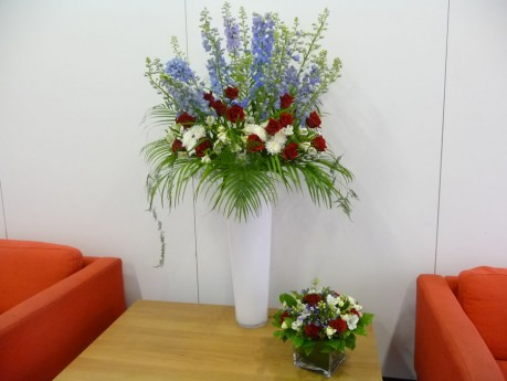 Large vase arrangement- corporate event summer 2012