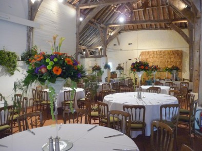 Giant martini vases at Pandean barn