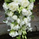 Classic all white shower bouquet